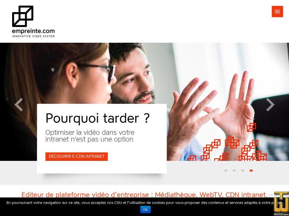 empreinte.com Screenshot