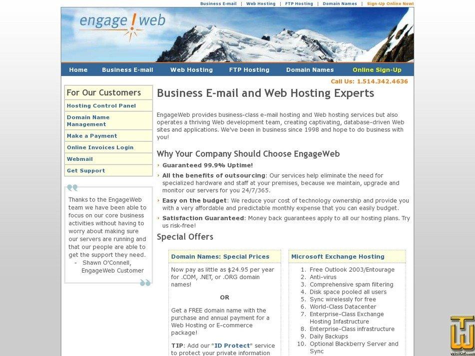 engageweb.com Screenshot