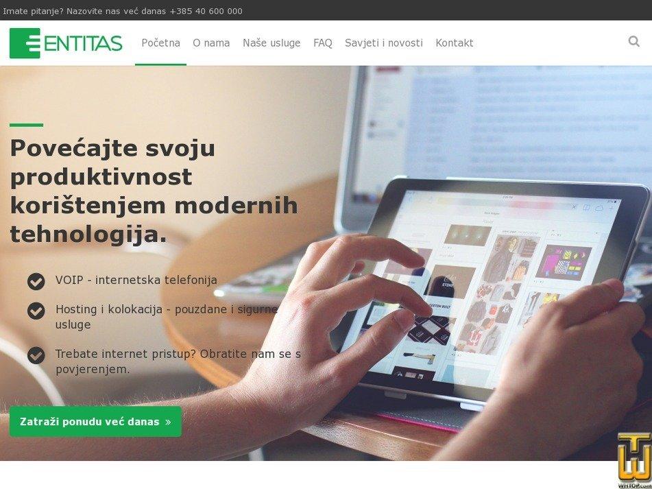 entitas.hr Screenshot
