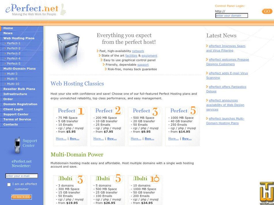 eperfect.net Screenshot