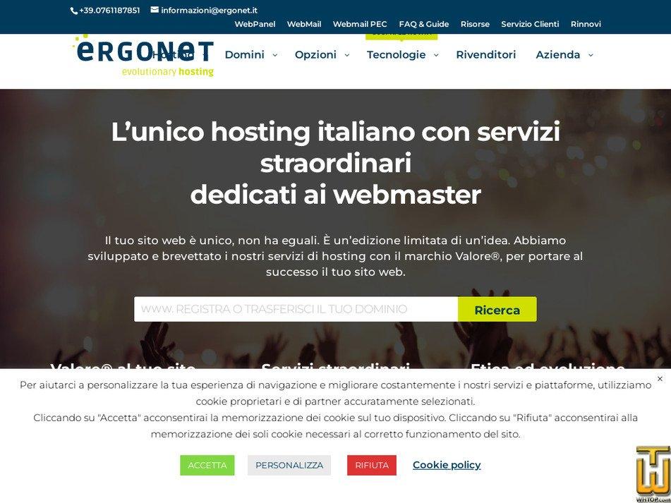 ergonet.it Screenshot