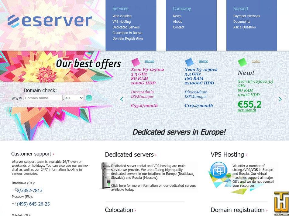 eserver.eu Screenshot