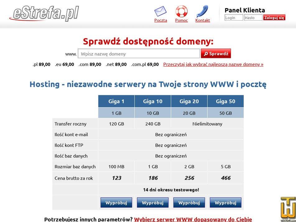 estrefa.pl Screenshot