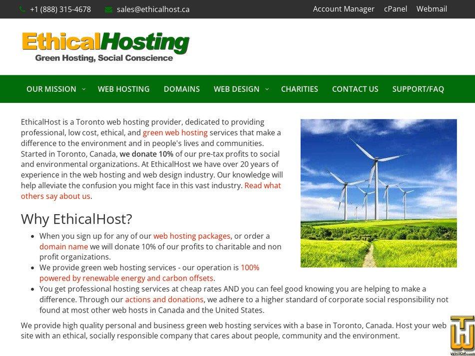 ethicalhost.ca Screenshot