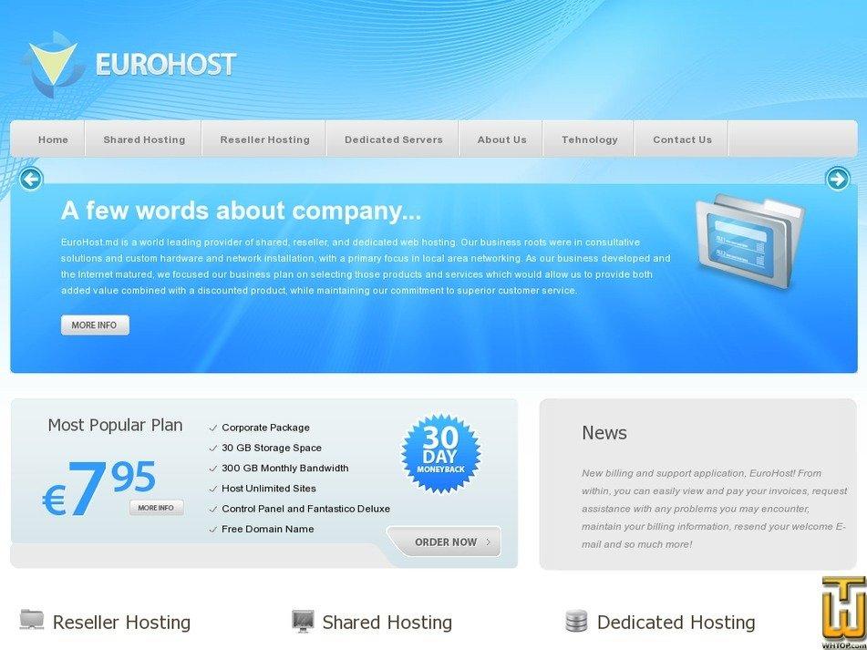 eurohost.md Screenshot