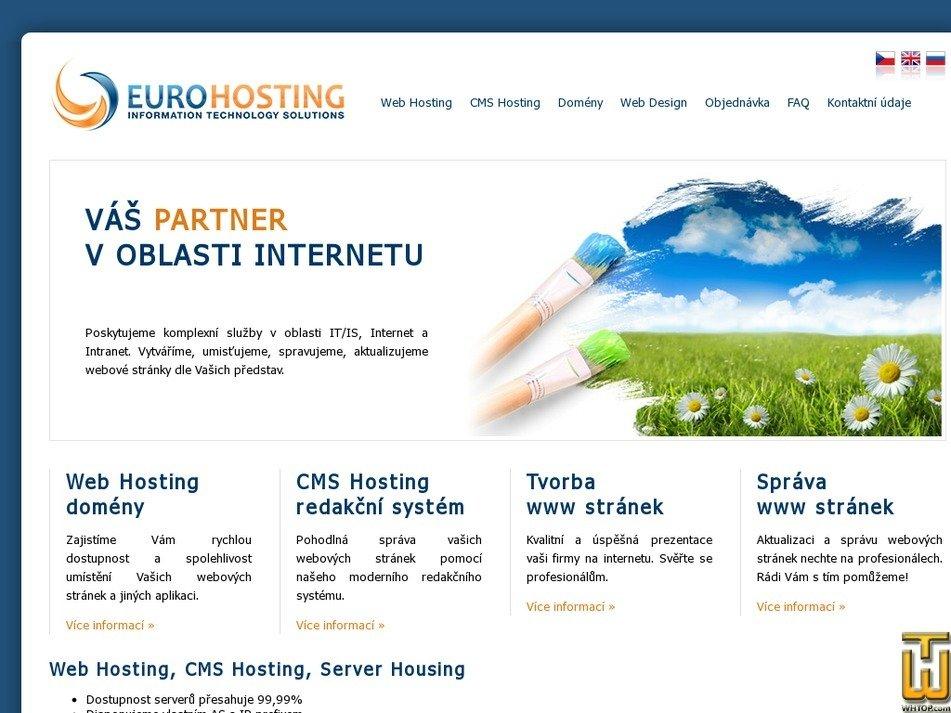 eurohosting.cz Screenshot