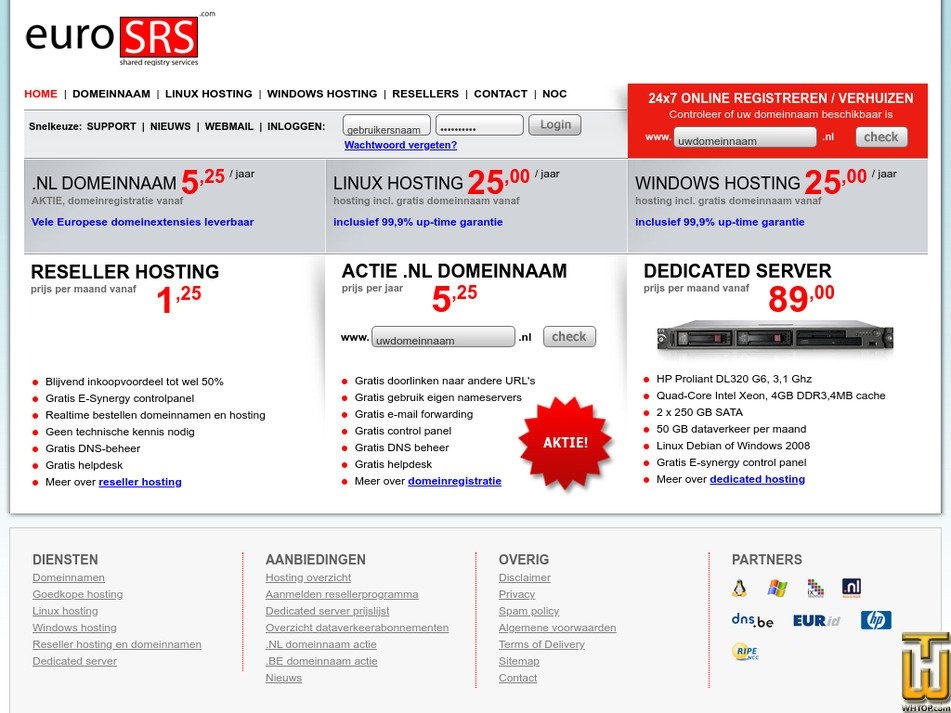 eurosrs.com Screenshot