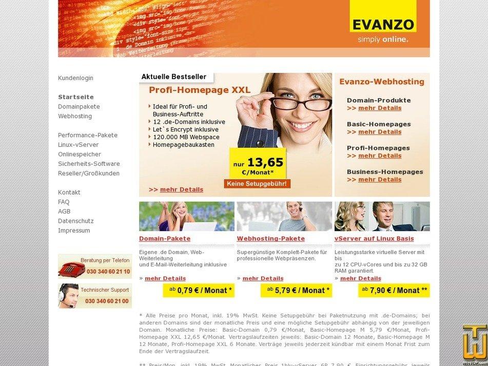 evanzo.de Screenshot