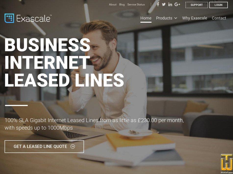 exascale.co.uk Screenshot