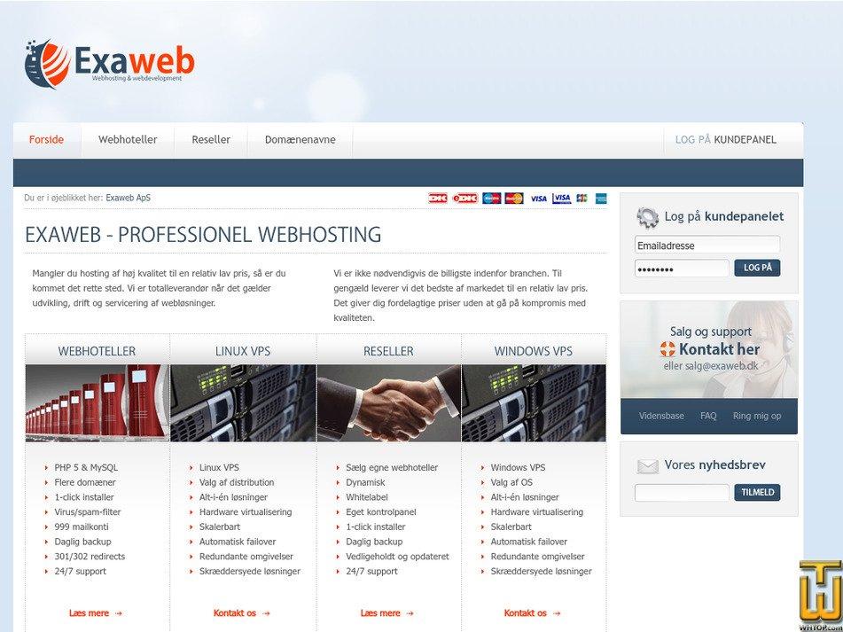 exaweb.dk Screenshot