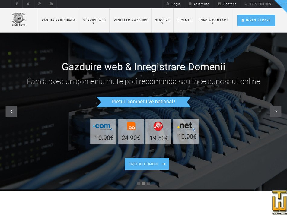 experthost.ro Screenshot