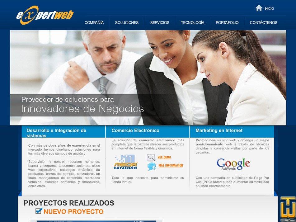 expertweb.com.ec Screenshot