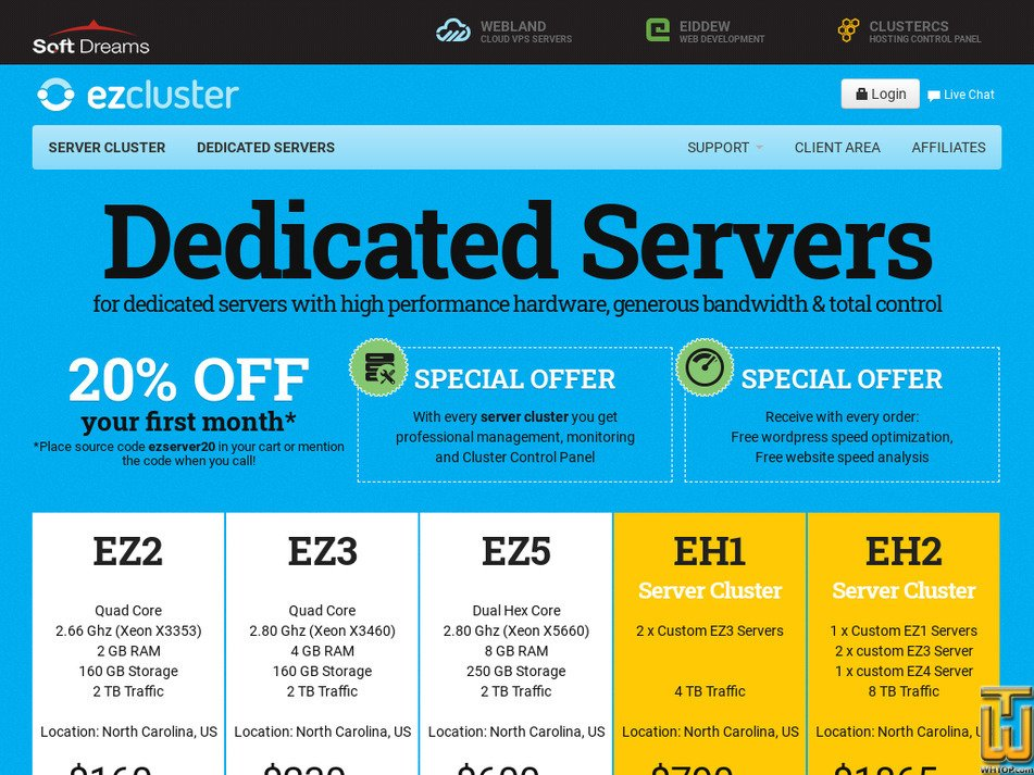 ezcluster.com Screenshot
