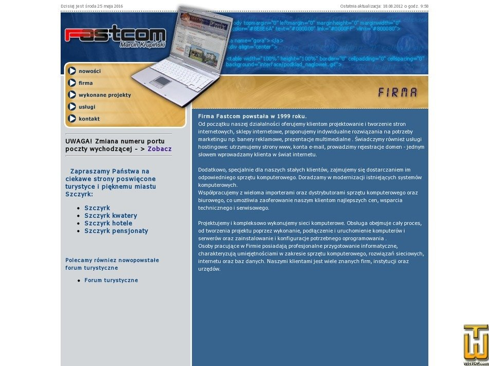 fastcom.net.pl Screenshot