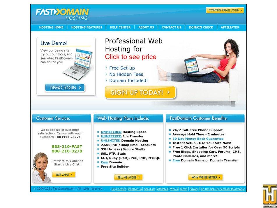 fastdomain.com Screenshot