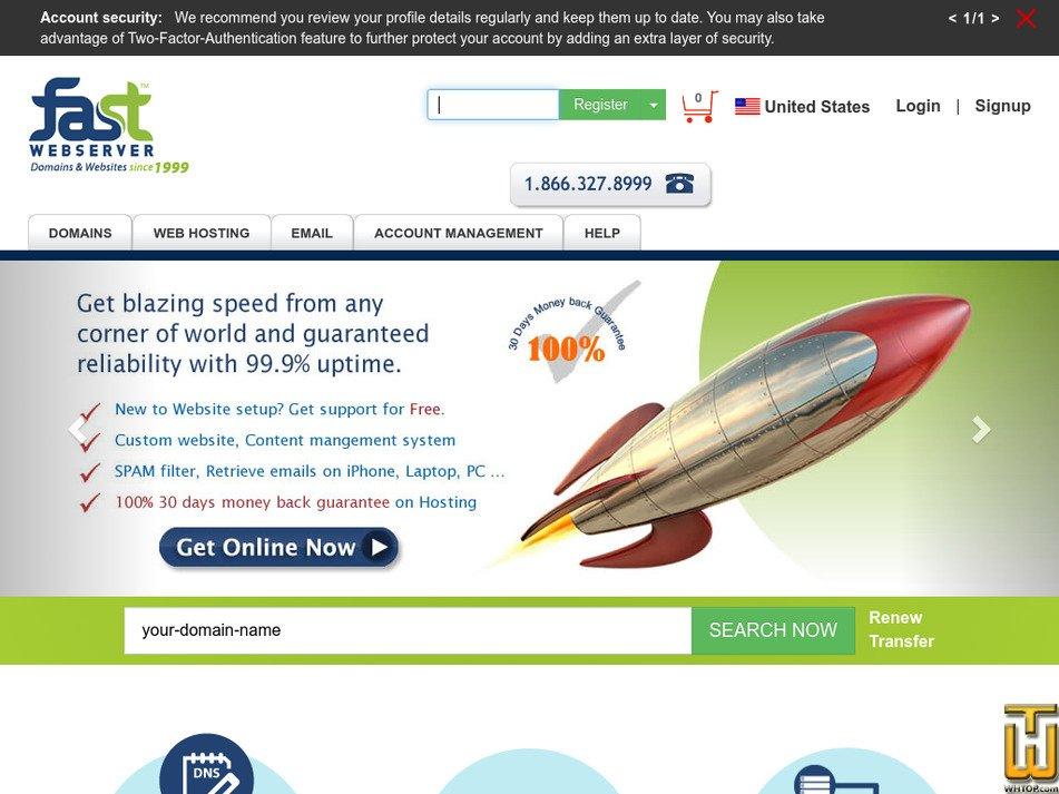fastwebserver.com Screenshot