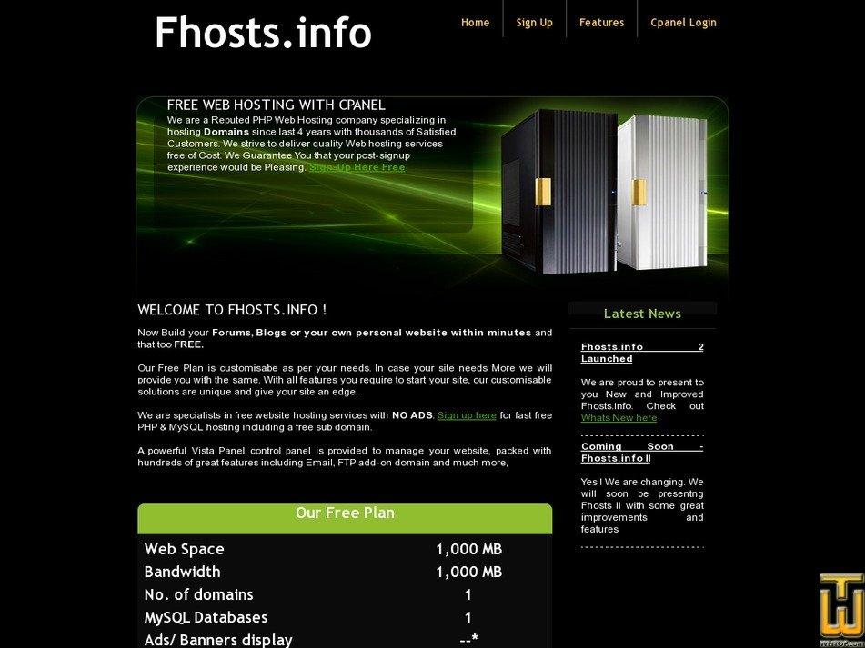 fhosts.info Screenshot