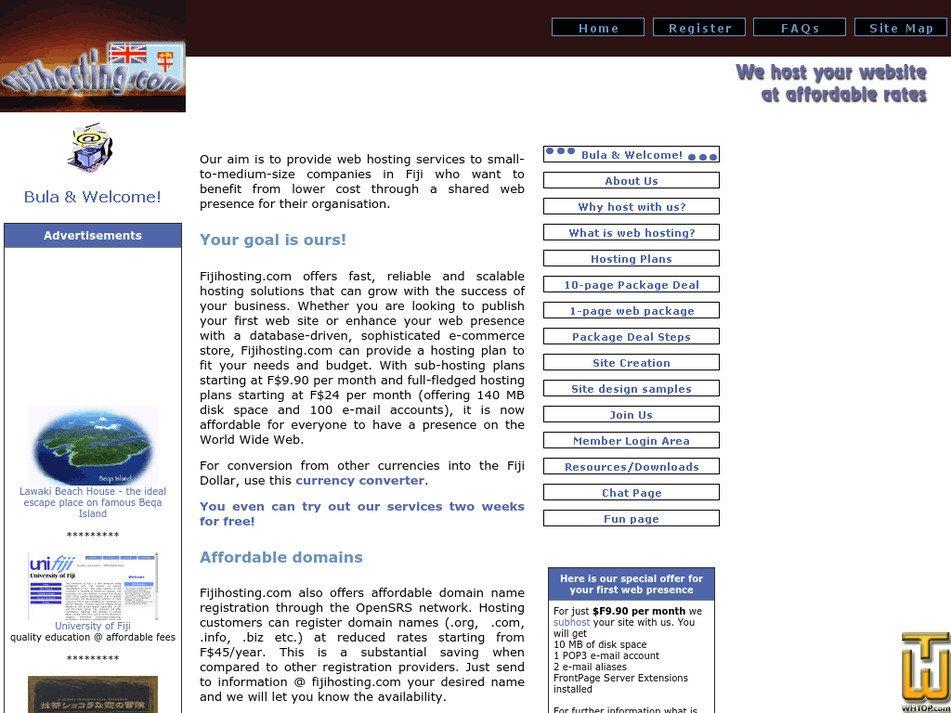 fijihosting.com Screenshot
