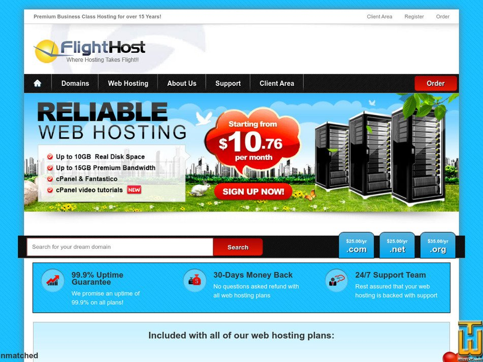 flighthost.com Screenshot