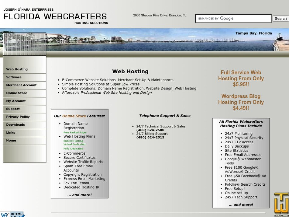 floridawebcrafters.com Screenshot