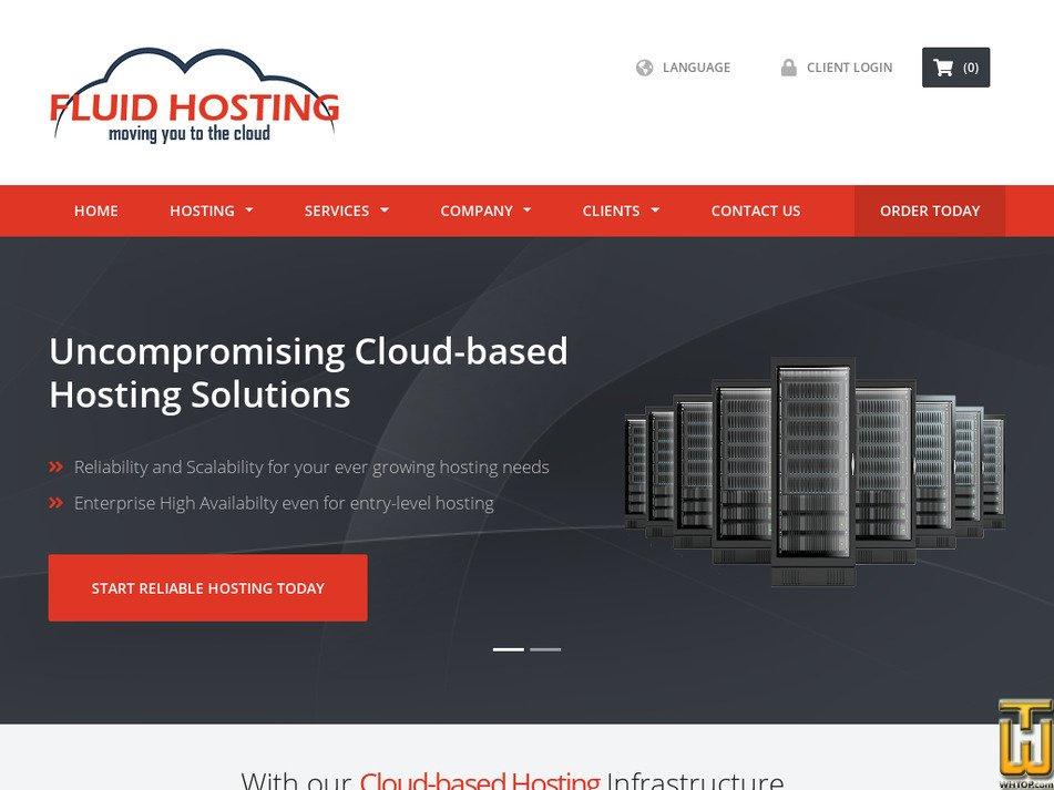 fluidhosting.com Screenshot