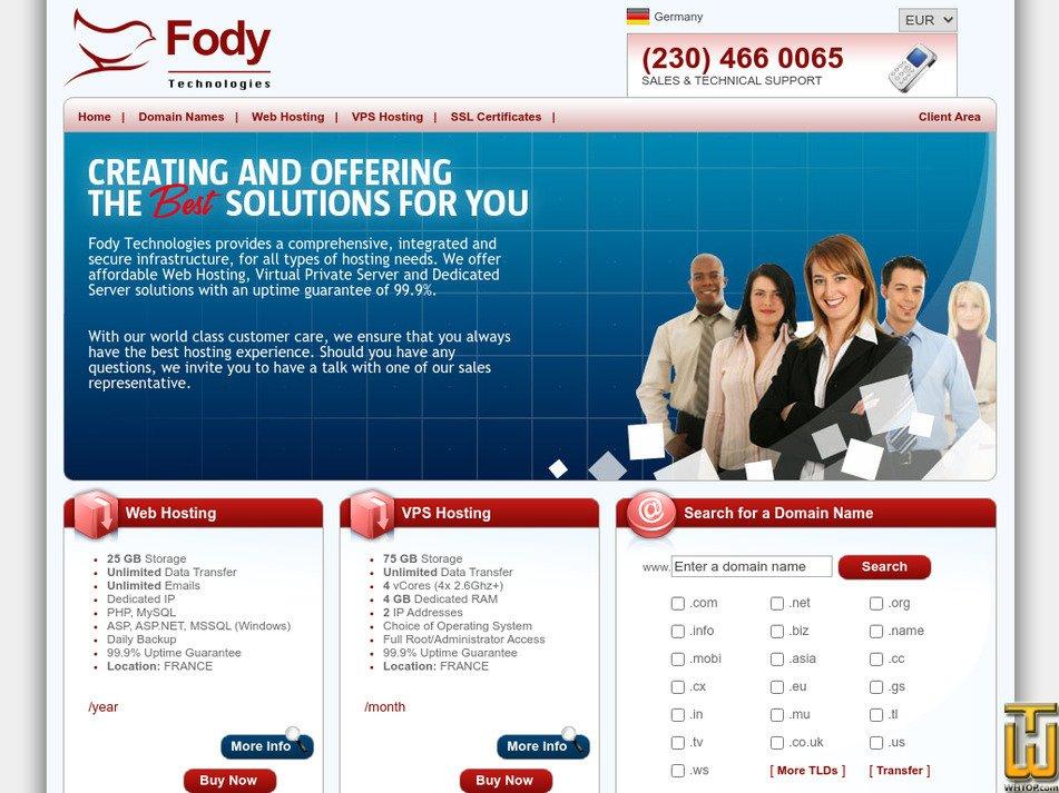 fodytechnologies.com Screenshot