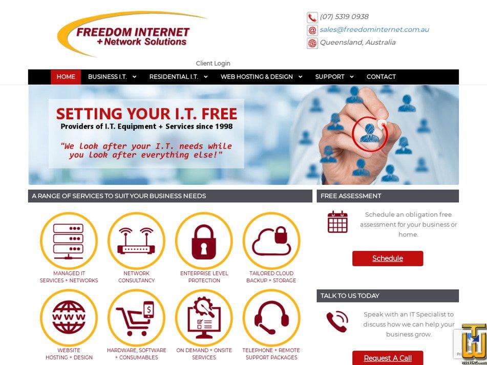 freedominternet.net.au Screenshot