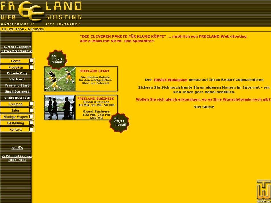 freeland.at Screenshot