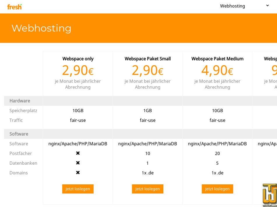 fresh-internet.net Screenshot