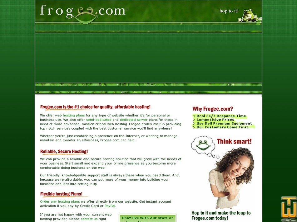 frogee.com Screenshot