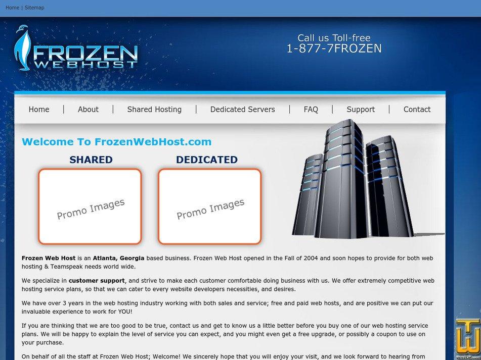 frozenwebhost.com Screenshot