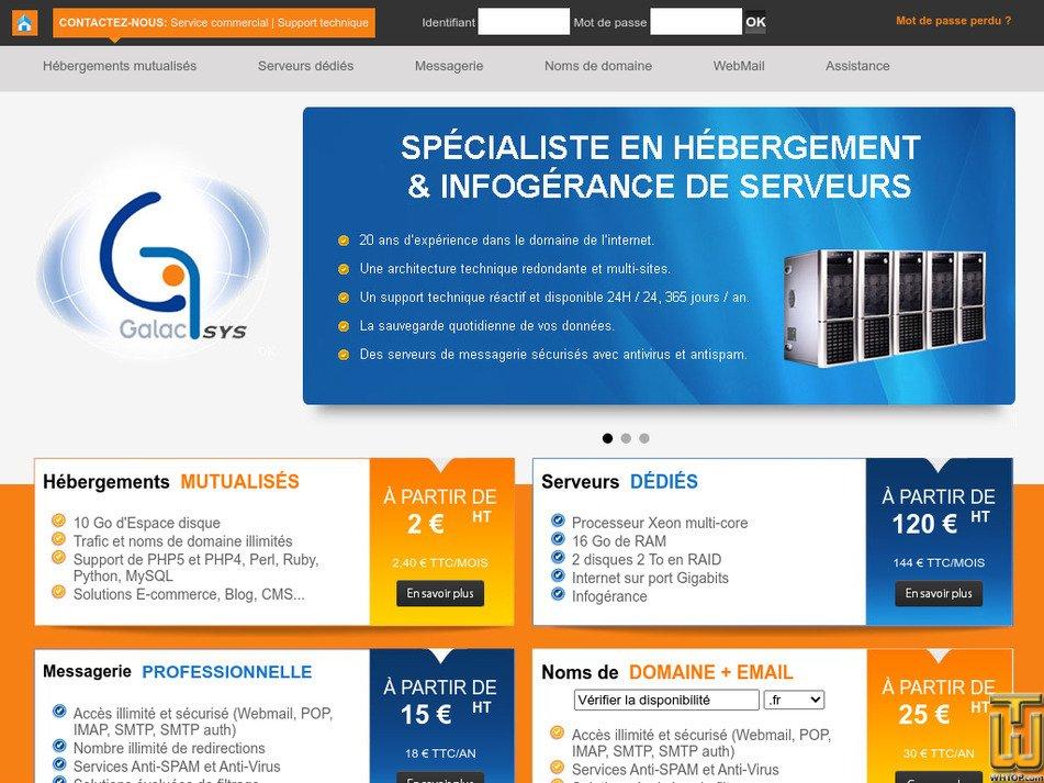 galacsys.net Screenshot