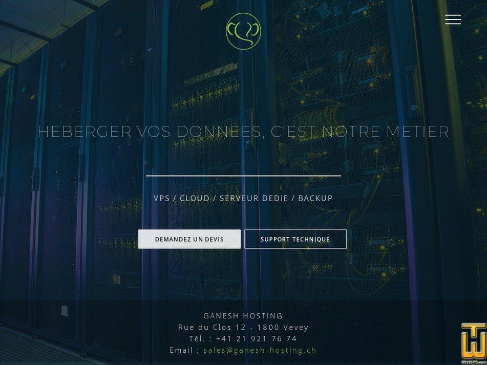 ganesh-hosting.ch Screenshot
