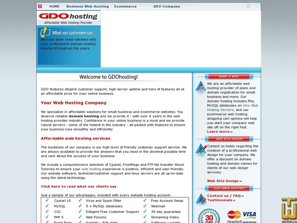 gdohosting.com Screenshot
