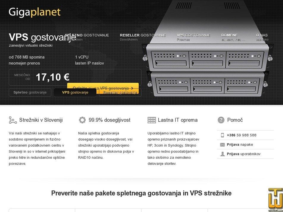 gigaplanet.si Screenshot