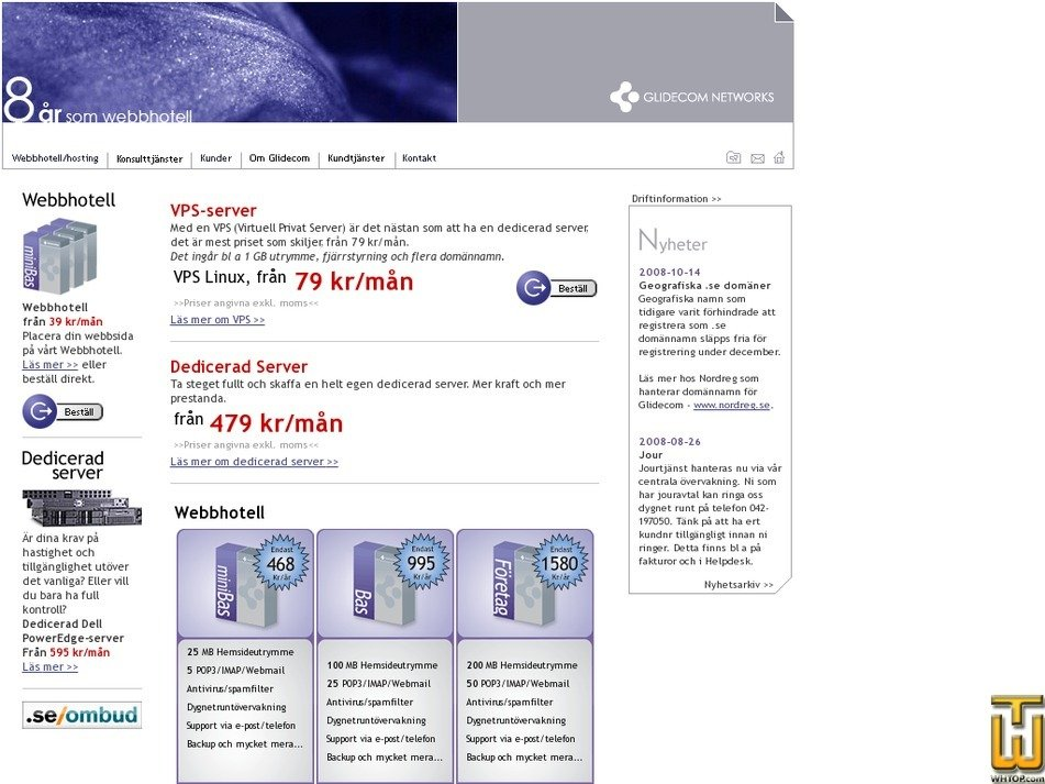 glidecom.se Screenshot