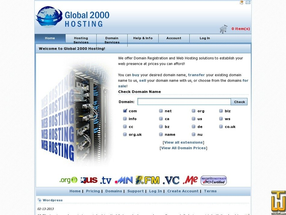 global2000hosting.com Screenshot