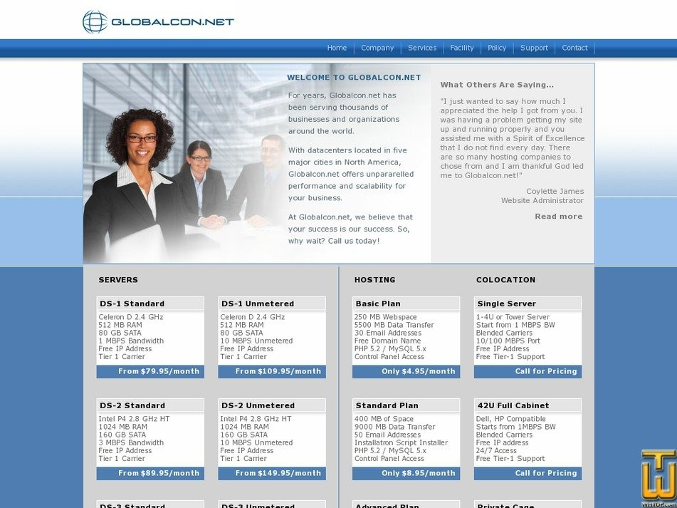 globalcon.net Screenshot