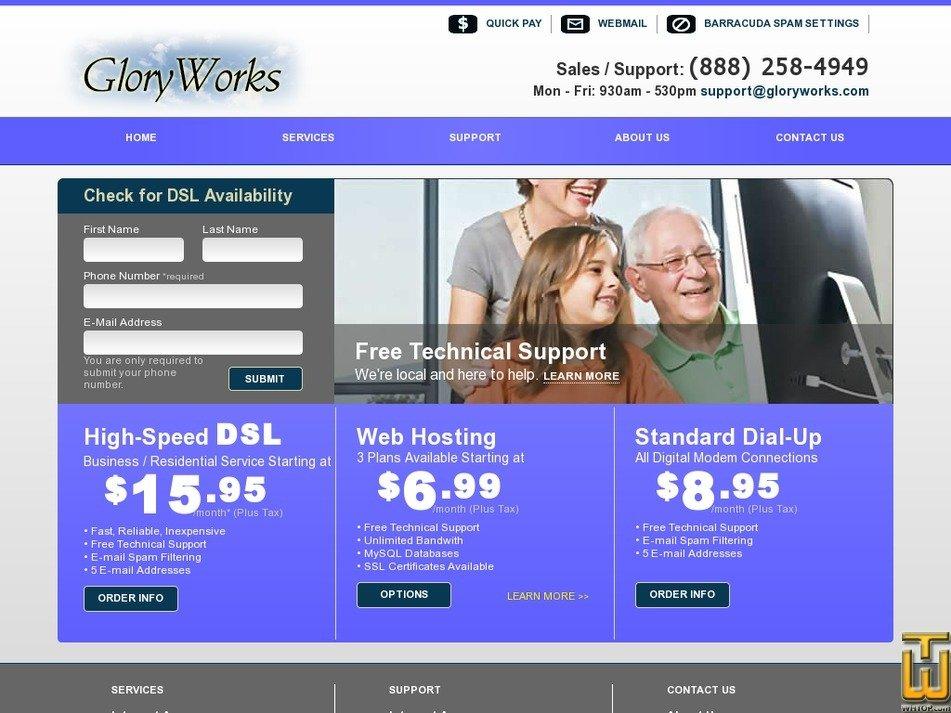 gloryworks.com Screenshot