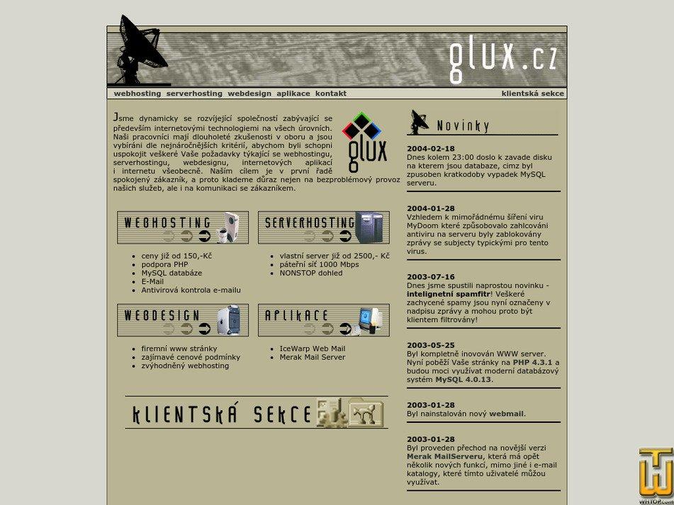glux.cz Screenshot