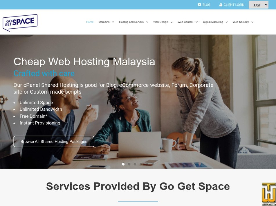 gogetspace.com Screenshot