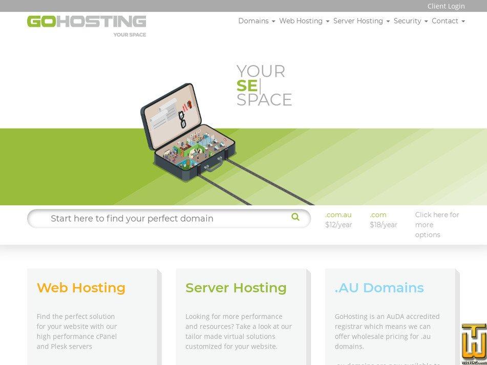 gohosting.com.au screenshot