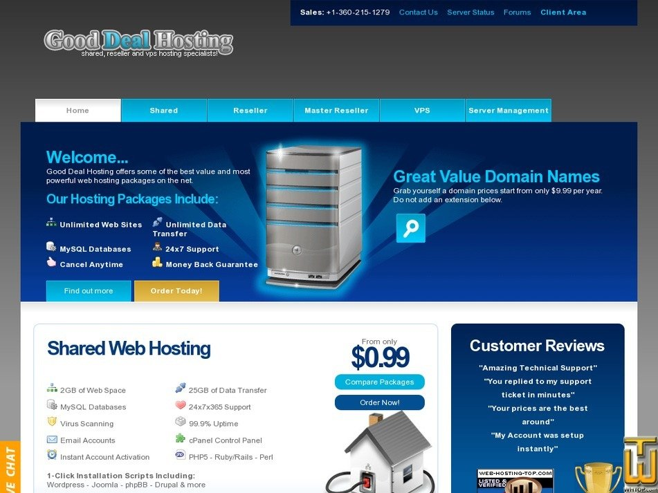 goodealhosting.cn screenshot