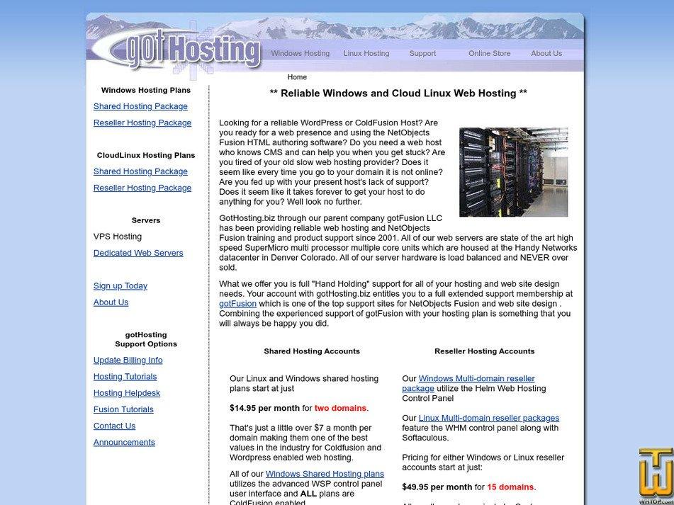gothosting.biz Screenshot