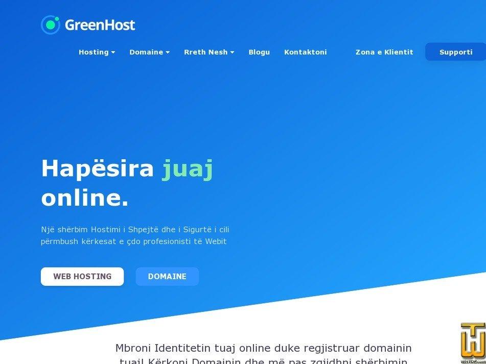 greenhost.al screenshot