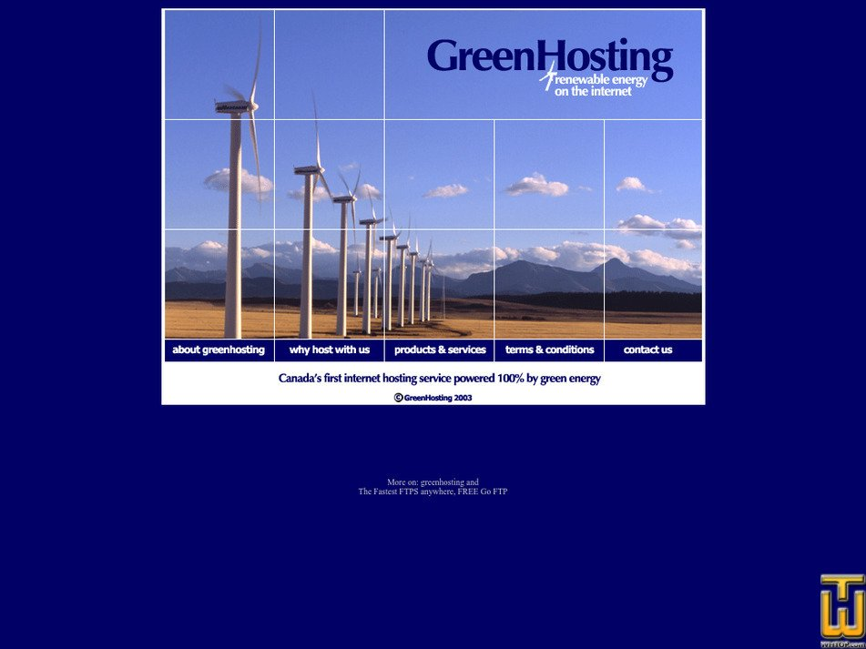 greenhosting.org Screenshot