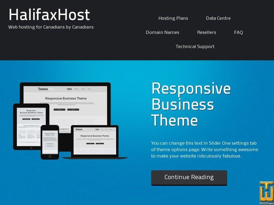 halifaxhost.com Screenshot