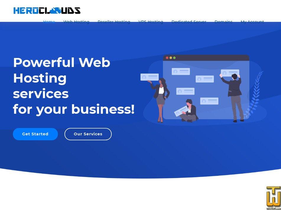 heroclouds.com Screenshot