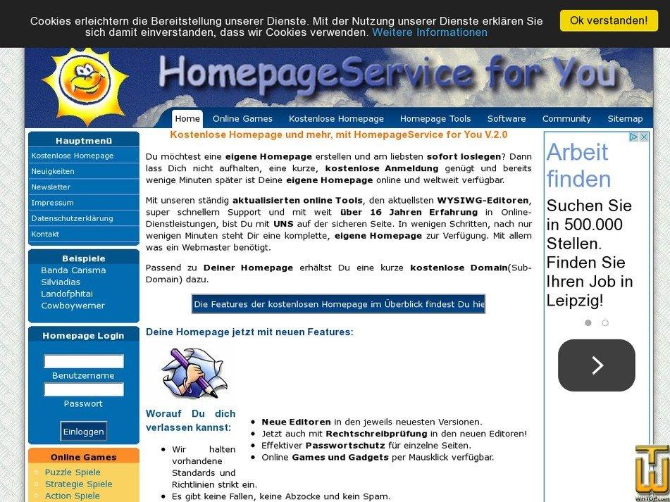 homepageservice4u.de Screenshot