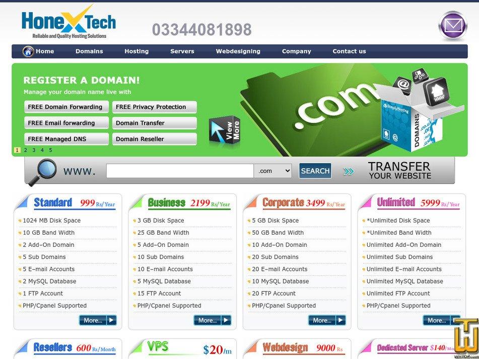 honextech.com Screenshot